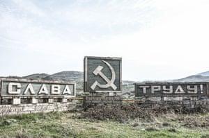 A Soviet-era remnant in Shushi, Nagorno-Karabakh