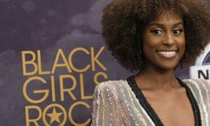 Issa Rae attends the Black Girls Rock! awards in Newark, New Jersey.