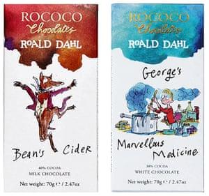 Rococo Roald Dahl chocolate bars