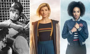 Jodie Whittaker, the new Doctor, with first-ever assistant, Susan, and last Bill Potts.