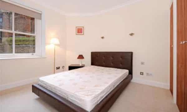 A bedroom at a London apartment
