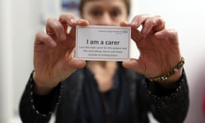 Carers improve patients' health, and should be welcomed as valued members of the team, campaigners say.