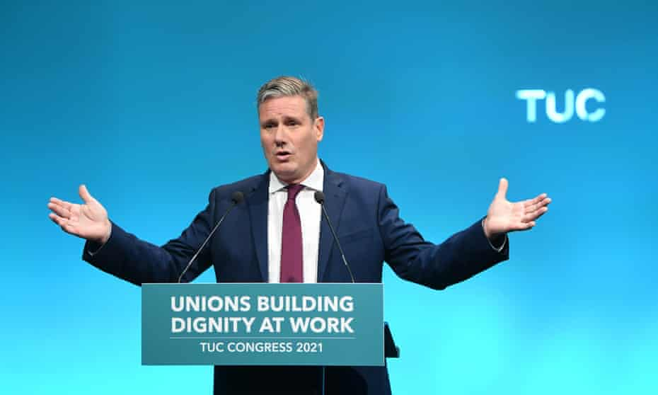 Keir Starmer at the Trades Union Congress, London, 14 September 2021.