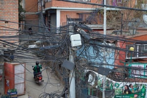 Kathmandu's chaotic electrical wiring has further hampered road expansion. As roads have been widened the electricity poles have also had to be moved, but a lack of co-ordination between the roads and electricity departments has held up progress.