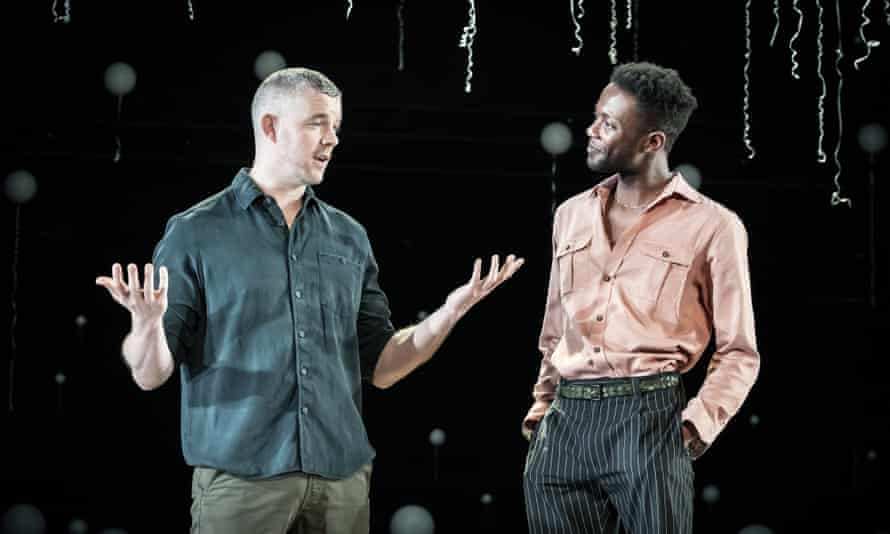Tovey and Omari Douglas in Constellations.
