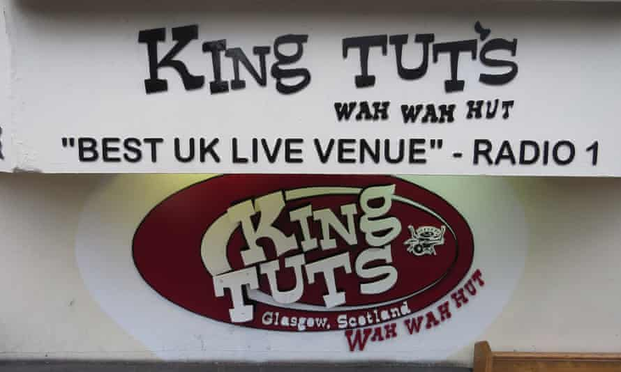 The signage for Glasgow's King Tut's, where Alan McGee spotted Oasis.