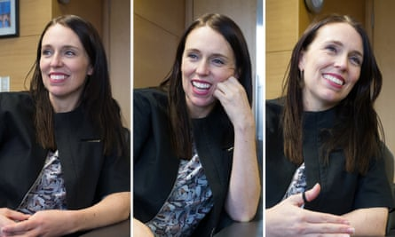 Jacinda Arden in her office in Wellington