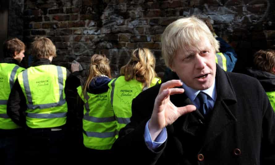 Boris Johnson launches the 'payback London' scheme in 2008.