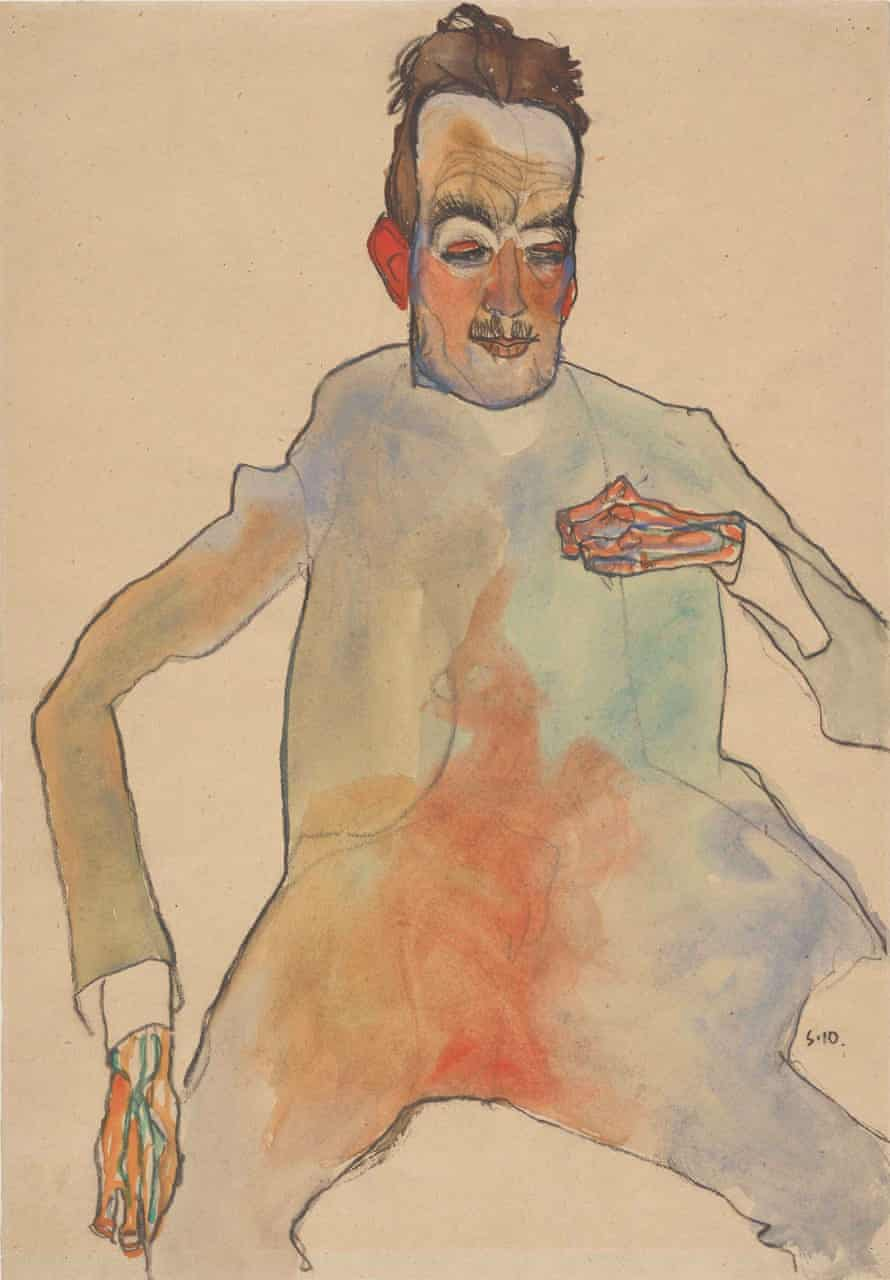 Triumph of the libido … Cellist (Egon Schiele, 1910).