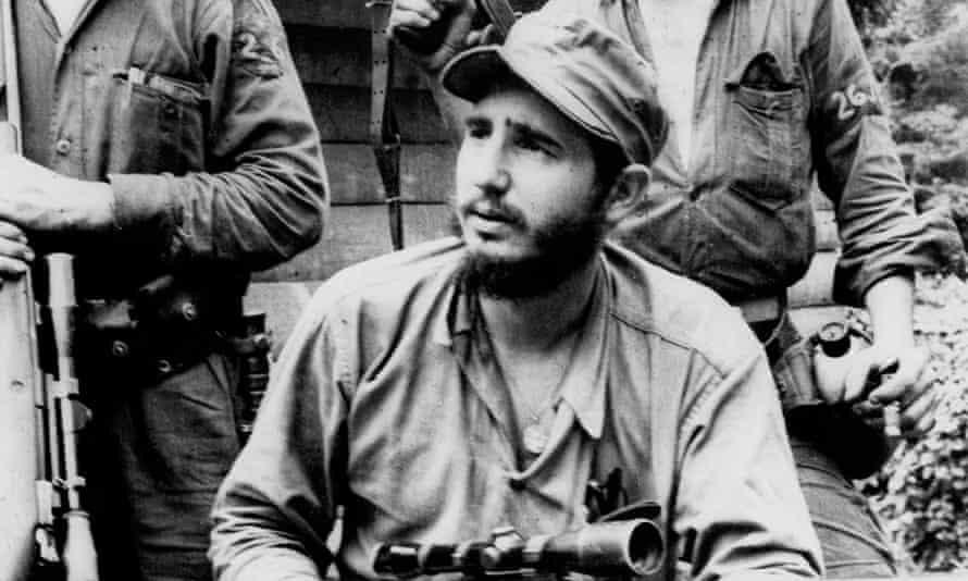 The young anti-Batista guerrilla leader Fidel Castro.