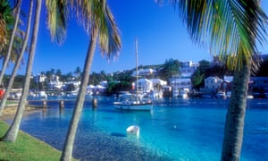 Village of Flatts Inlet on the island of Bermuda