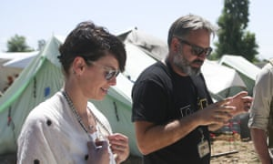 Headey visited Diavata refugee camp in northern Greece in 2016.