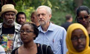 Jeremy Corbyn attends the Notting Hill carnival in London.