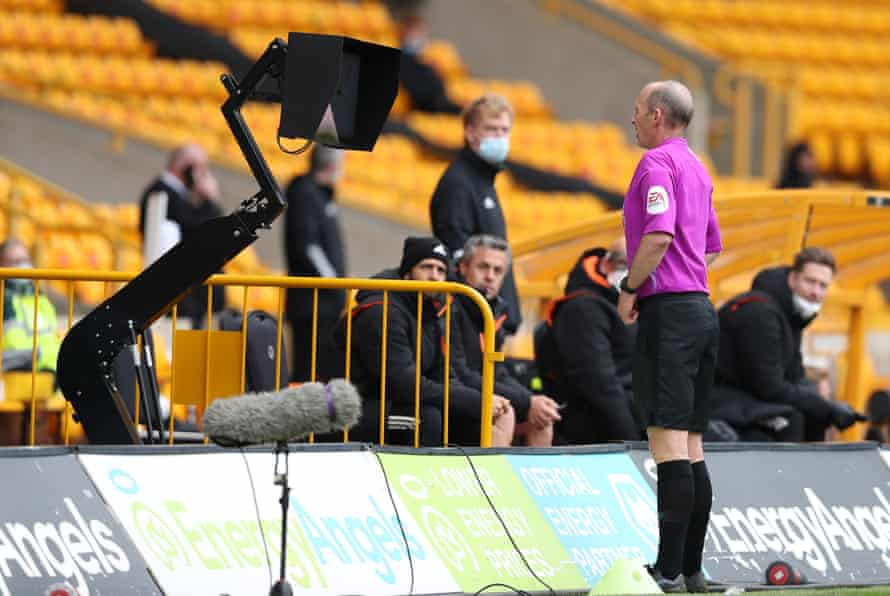 Mike Dean and his VAR machine