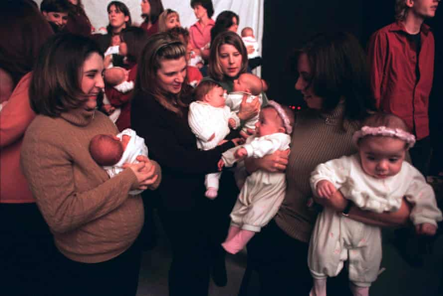 Widows of 9/11 with their newborns.