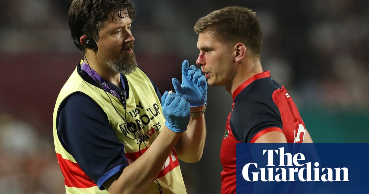 England's Owen Farrell 'missing part of his nose' after bruising win over USA