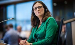 Former EU trade commissioner Cecilia Malmström.