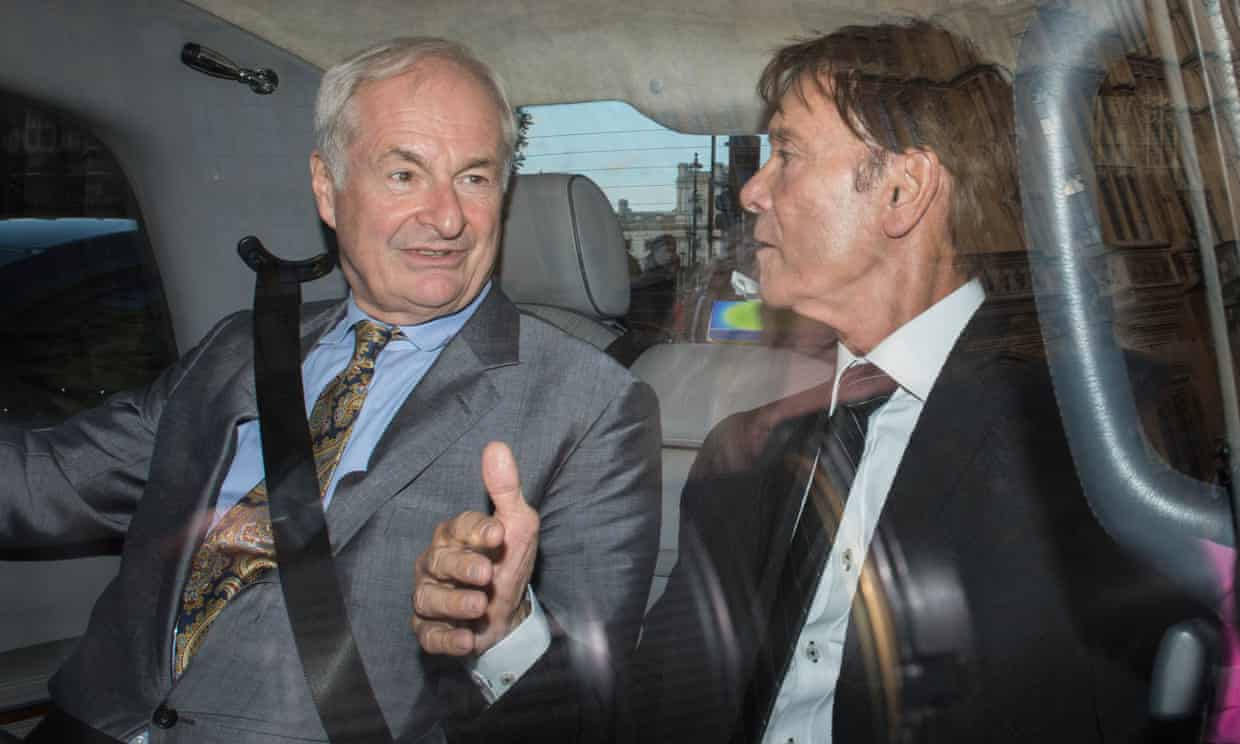 Paul Gambaccini and Sir Cliff Richard pictured in 2016