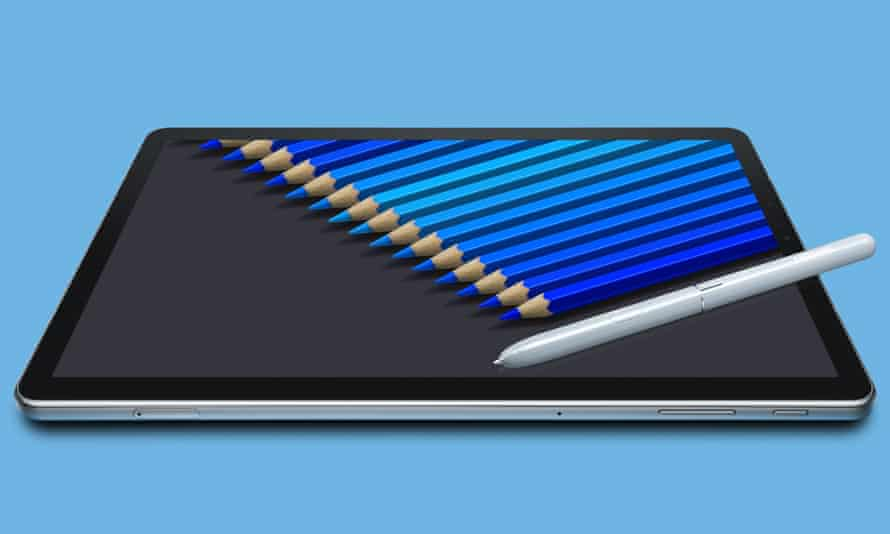 Samsung's Galaxy Tab S4 with stylus.