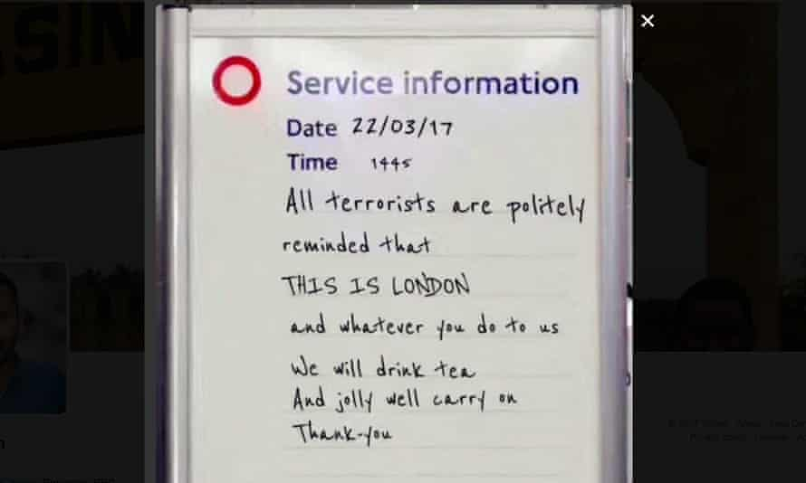 The tube sign that went viral – but was fake.