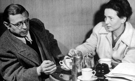 Jean Paul Sartre and Simone de Beauvoir.
