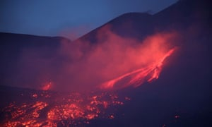 Etna is an example of a basaltic volcano known for its explosive nature – as in this eruption in July this year.