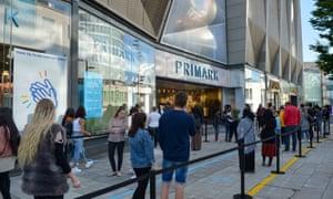 The queue outside Primark in Birmingham