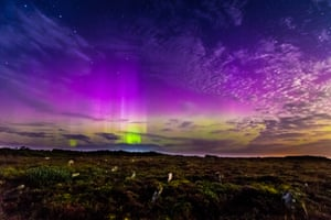 The northern lights over Caithness. Such displays – not usually seen so far south – are caused by solar explosions.