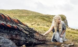 Mother of Dragons … Emilia Clarke as Daenerys.
