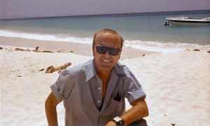 Don Pierson on a beach on Tortuga, 1972.