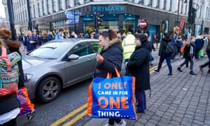 Christmas shoppers on outside a Primark