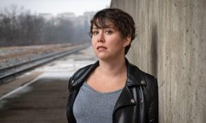 Kristen Roupenian near train tracks
