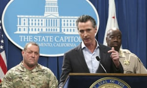 Gavin Newsom addresses his decision to withdraw national guard troops from the US border with Mexico.
