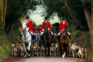 Members of the Old Surrey Burstow and West Kent Hunt in Chiddingstone, Kent.
