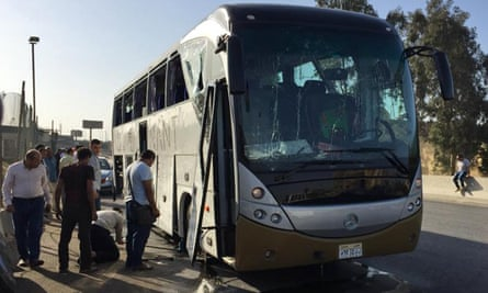 Bus damaged by bomb