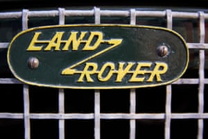 The famous Land Rover logo