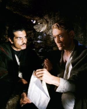 As Sherif Ali ibn el Kharish with Peter O'Toole as T. E. Lawrence in Lawrence Of Arabia, 1962