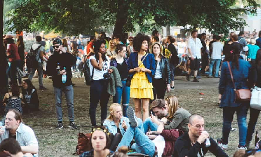 Residents need to be able to create their own culture … a festival crowd in Berlin.