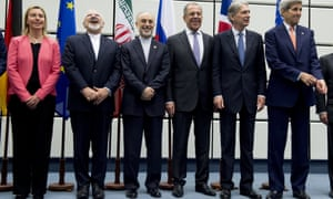 The politicians involved in negotiating the Iran nuclear deal pose for a picture in Vienna in July 2015