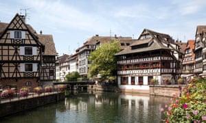 Half-timbered houses in La Petite France, Strasbourg