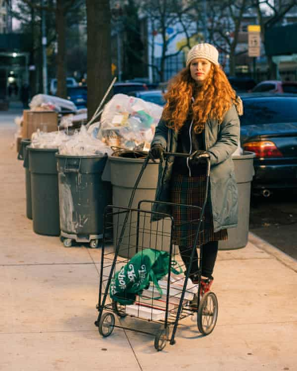 Sacks ventures out in the Upper West Side on a freezing, windy Friday evening in December 2020.