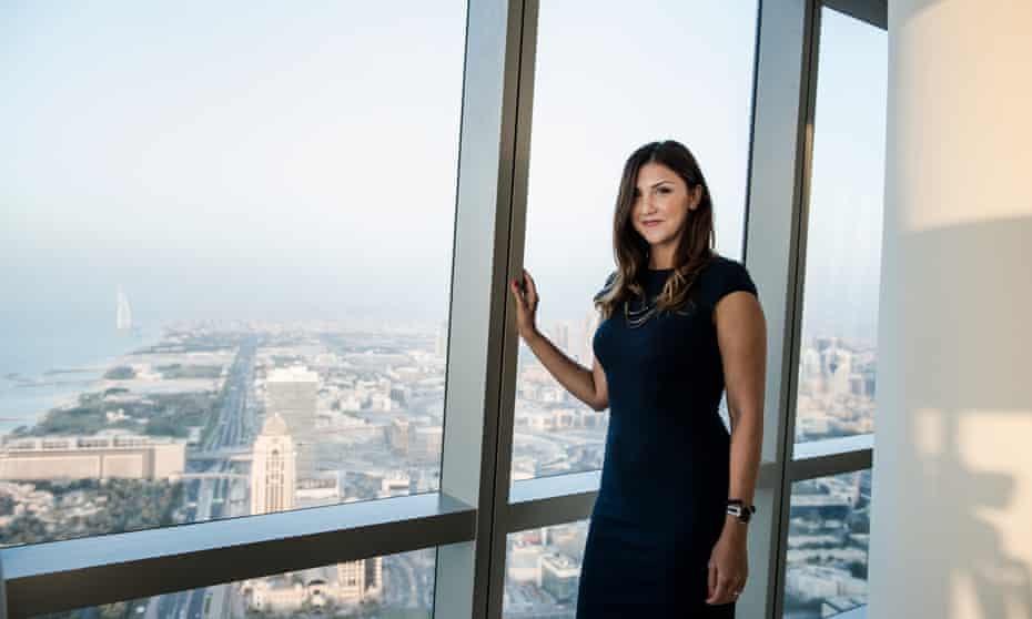 Farimah Moeini on the 68th floor in Dubai.