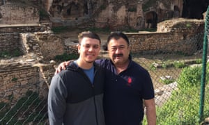 Adil Mijit (right) on holiday in Izmir, Turkey in 2015 with his son-in-law Arslan Mijit Hidayat