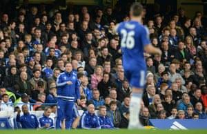 Chelsea Caretaker manager Steve Holland communicates with John Terry.