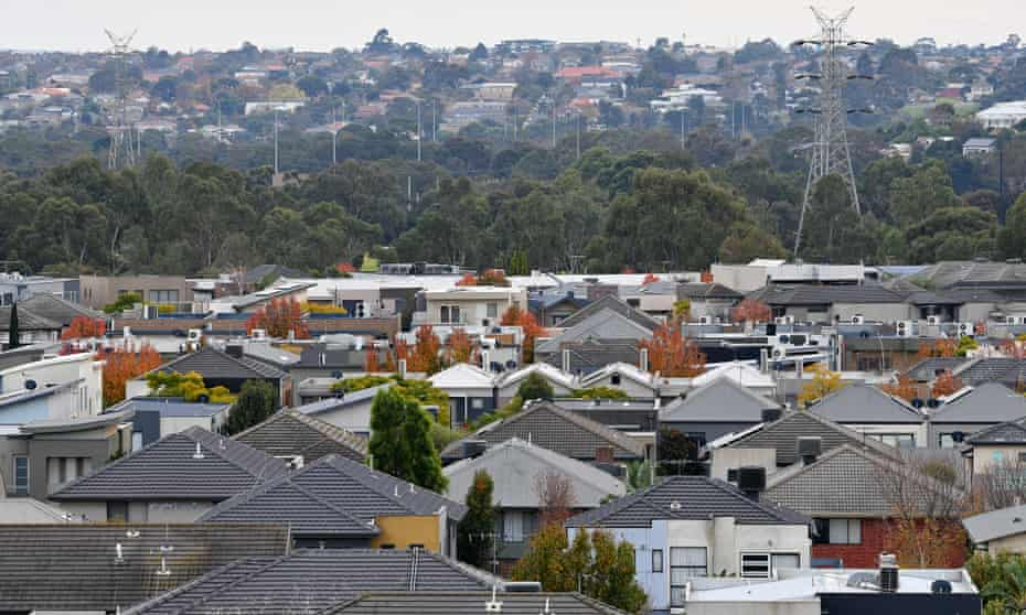 A general view of residential properties in Melbourne