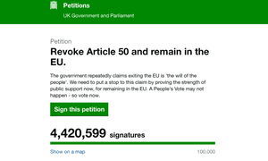 The revoke article 50 petition