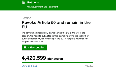 Woman behind Brexit petition to revoke article 50 receives death threats