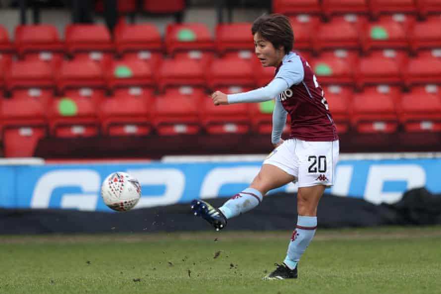 Mana Iwabuchi scores for Villa v Totttenham