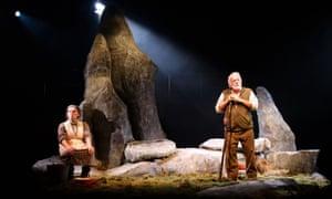 Creepily unnerving … Morfudd Hughes and Wyn Bowen Harries in Fel Anifail