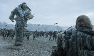 One long orgy of violence … Ian Whyte as Wun Wun on the battlefield.